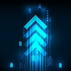 Abstract Blue Arrows technology communicate background, vector i