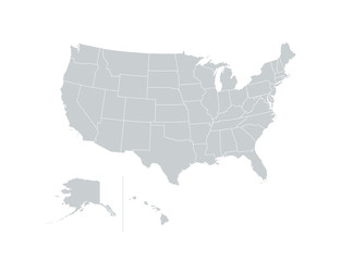 United States of America USA Regions Map