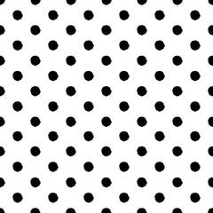 Wzór rysowane ręcznie polka dot. Czarny i biały. - 132953044