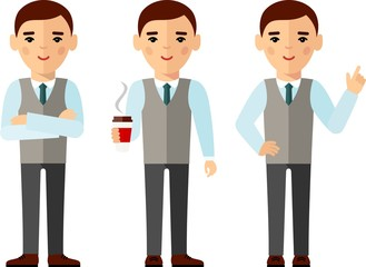 illustration of business people in different positions .