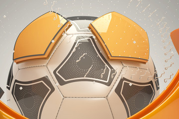 3d soccer ball design