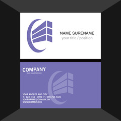 abstract shape construction building logo