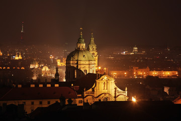 Panoramic view of Prague. Czech Republic
