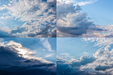 heavy clouds on a blue sky image set