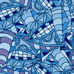 Geometric background made of hand drawn patterns