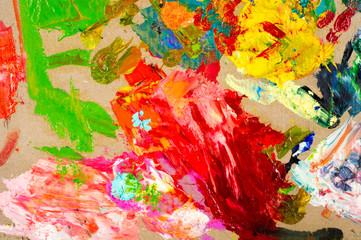The artist's palette