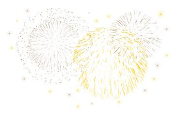 feu d'artifice or fête