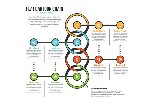 Flat Cartoon Chain