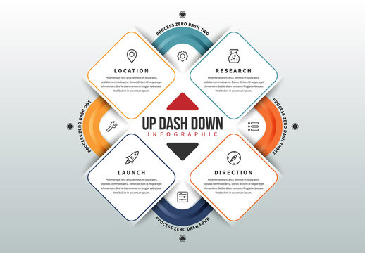 Up Dash Down Graphic