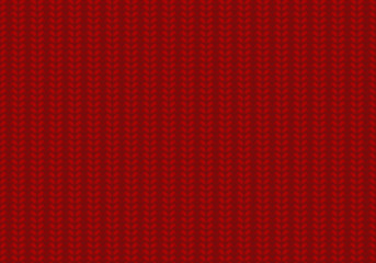 English elastic, red seamless texture, knitting vector background