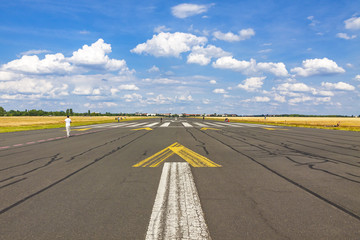 Berlin Tempelhof Airport, former airport of Berlin, Germany