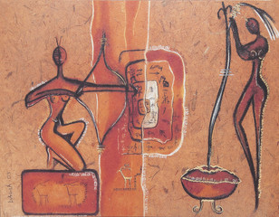 African traditional painting