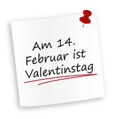 Am 14. Februar ist Valentinstag