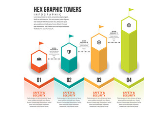 Hex Graphic Towers