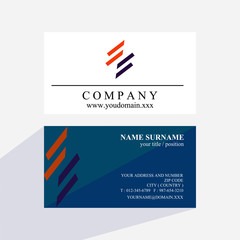 shape line abstract business card logo