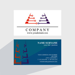 triangle tech business card logo