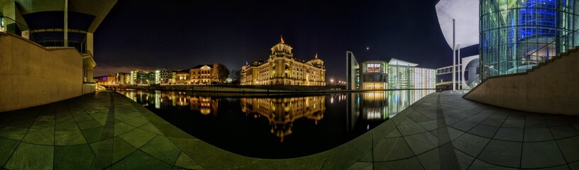 Panorama des Spreebogens in Berlin