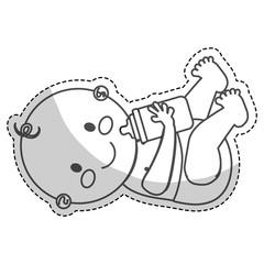 happy baby boy  icon image vector illustration design