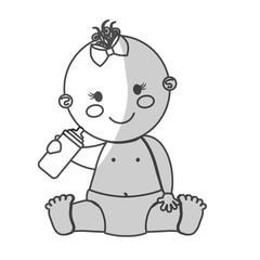 happy baby girl  icon image vector illustration design