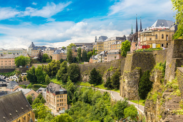 Wall Mural - Panoramic cityscape of Luxembourg