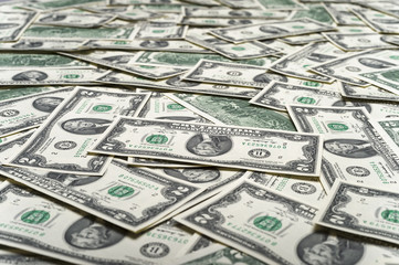 close up view of cash money dollars bills in amount