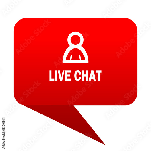 live chat bubble red icon stock photo and royalty free images on pic 133001844. Black Bedroom Furniture Sets. Home Design Ideas