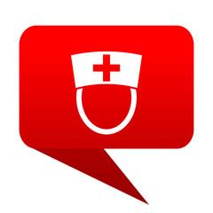 nurse bubble red icon