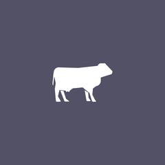 cow icon. animal sign