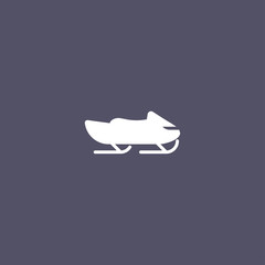 simple snowmobile icon