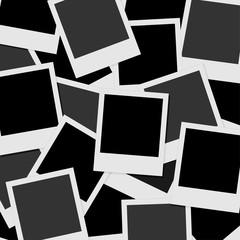 Card blank album photos set background - isolated vector illustration