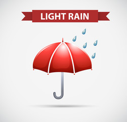 Weather icon for light rain