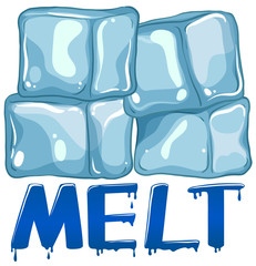 Font design for word melt