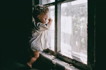 Doll at window