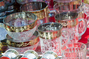 tableware made of expensive glass