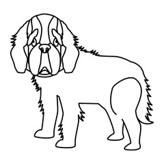 cute dog icon over white background. vector illustration