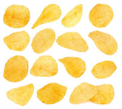 potato chips closeup