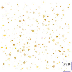 Vector gold confetti background effect for luxury greeting rich