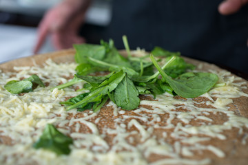 Leafy Greens on Cheese Crepe