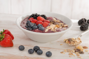 Healthy morning Bircher Muesli