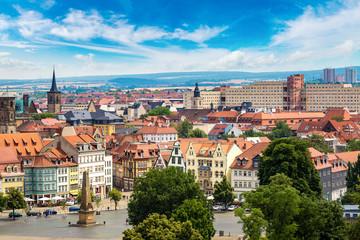 Fototapete - Panoramic view of Erfurt