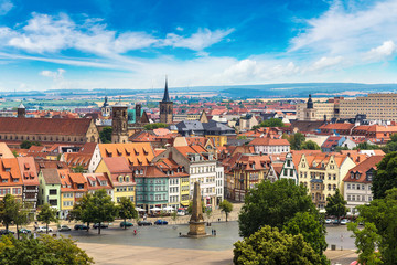 Wall Mural - Panoramic view of Erfurt