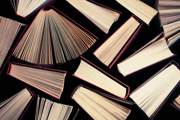 books  toned with a retro