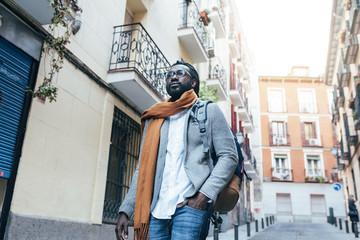 Businessman walking in the Street.