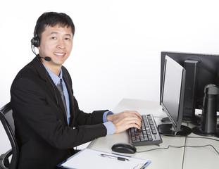 operator using computer