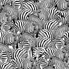 Zebra seamless pattern.Savannah Animal ornament. Wild animal texture. Striped black and white. design trendy fabric texture, illustration.