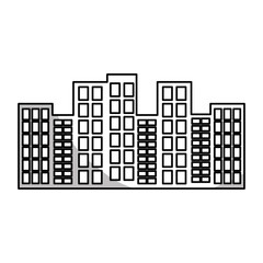 urban buildings icon over white background. vector illustration