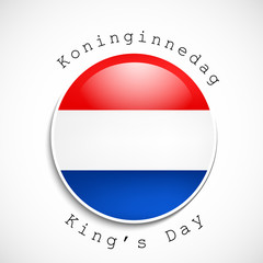 King's day background
