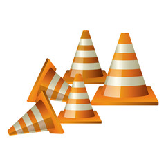 Cone icon. Under construction work repair and progress theme. Isolated design. Vector illustration
