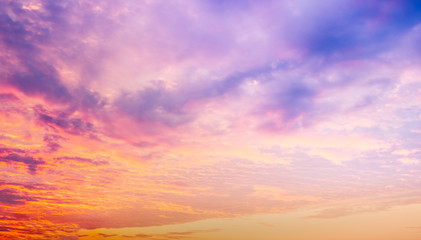 The color and beauty of the sky at sunset.