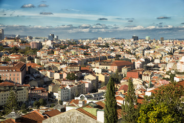 View of roofs of Lisboa